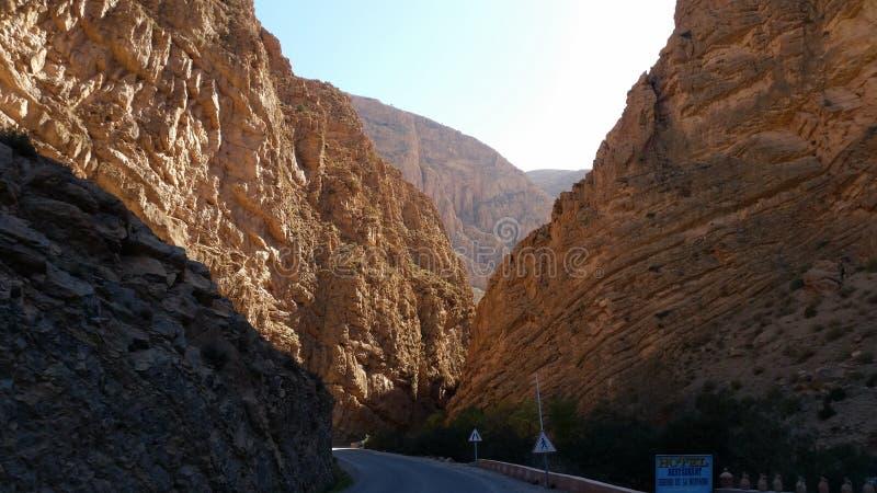 Взгляд ущелье du dades, tinerhir, Марокко стоковое изображение rf