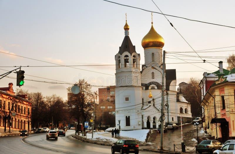 Взгляд церков значка Казани в Nizhny Novgorod Фото цвета стоковые изображения