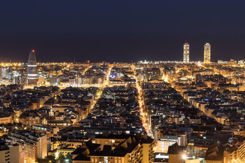 Взгляды Барселоны, Испании, вечером стоковое фото rf