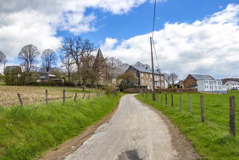 Взгляд Bellevaux, Bellevaux-Ligneuville, Malmedy, Бельгии стоковые фотографии rf