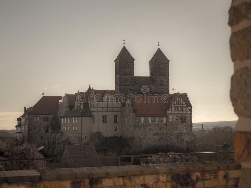 взгляд собора Кведлинбурга стоковая фотография