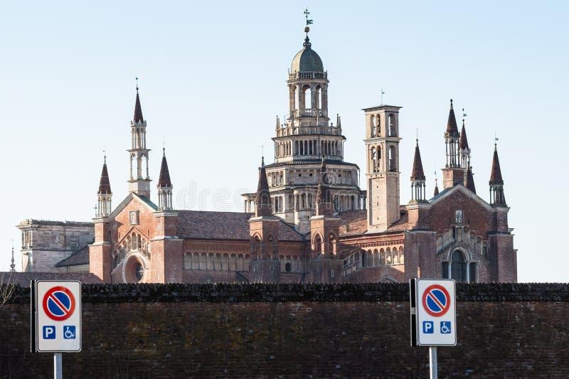 взгляд di Павии Certosa стоковая фотография