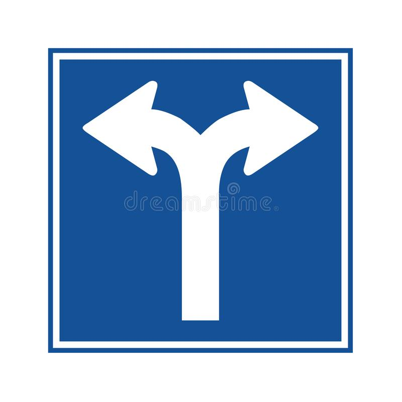 Вилка в знаке дорожного движения иллюстрация штока