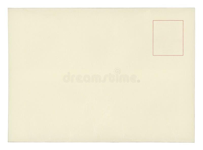 Винтажная изолированная открытка - стоковая фотография rf