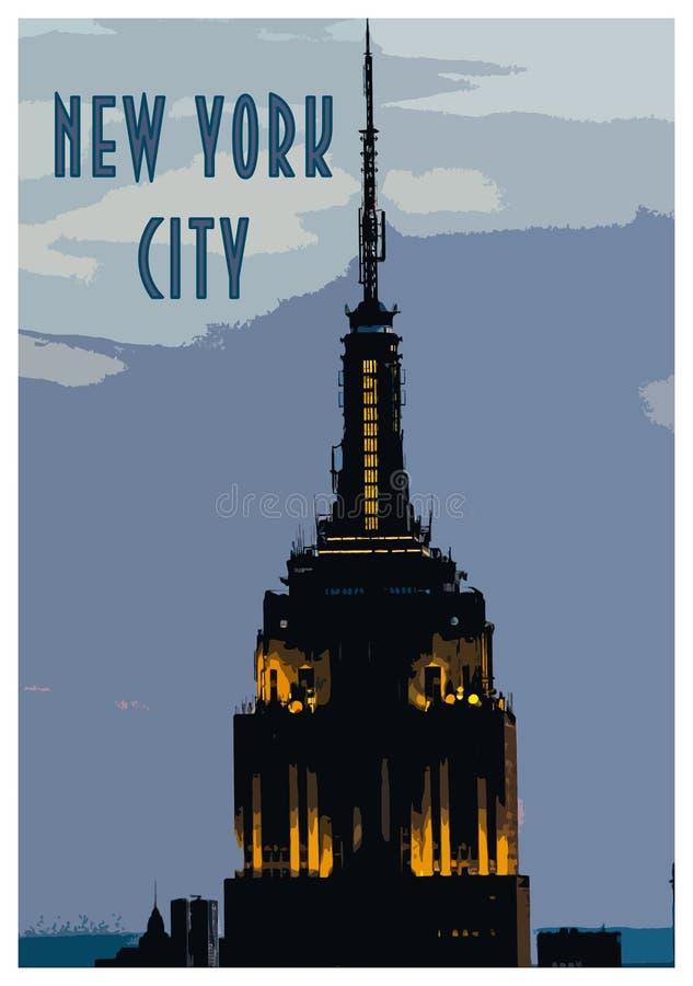 Винтажный плакат Нью-Йорка стоковое фото