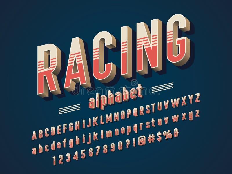 Винтажный шрифт иллюстрация штока
