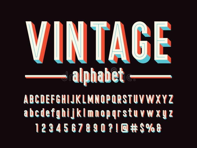 Винтажный шрифт бесплатная иллюстрация