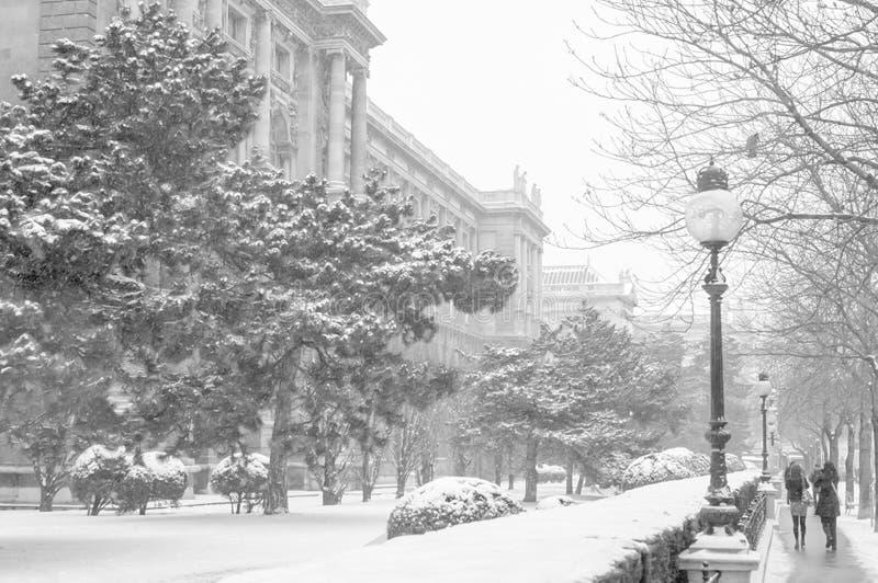 Видимости Вены, зданий и улиц города Вены стоковое фото