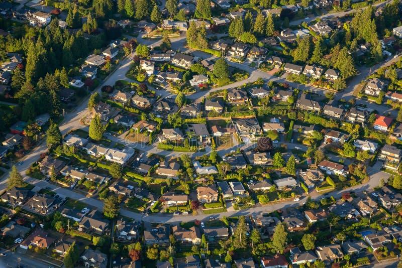 Вид с воздуха жилых домов стоковые фотографии rf
