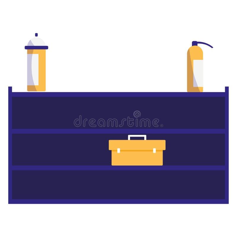 Включение в набор отложенных изменений с механиком и гасителями toolbox иллюстрация штока