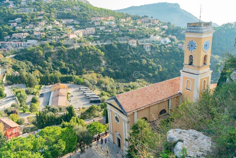 Внешний взгляд исторической церков нашей дамы предположения Eze стоковая фотография