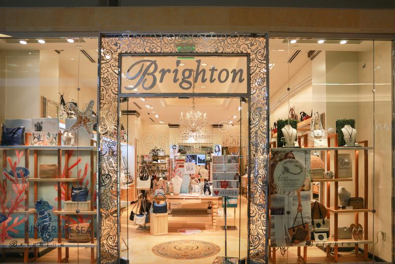 Внешняя витрина магазина Брайтона Collectibles стоковые изображения rf