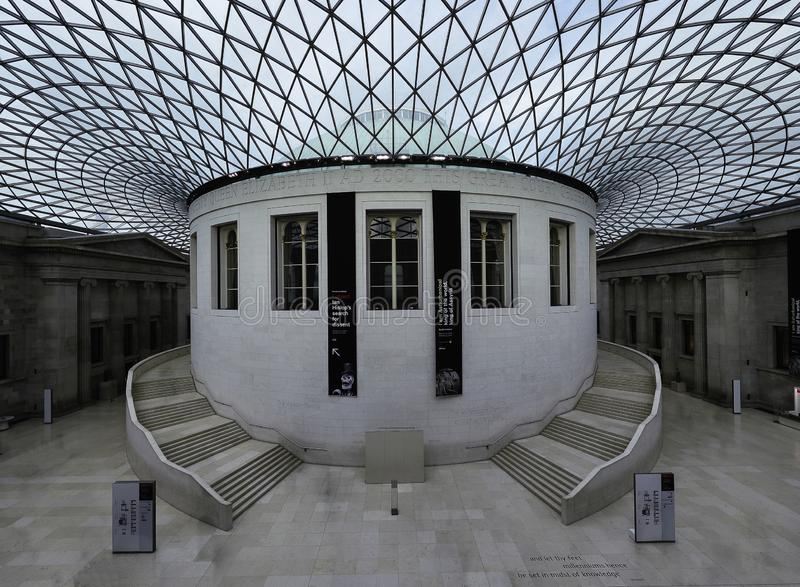 Внутрь великобританского музея стоковое изображение rf