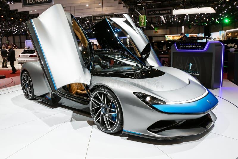 все-электрическое Pininfarina Battista hypercar стоковое фото rf