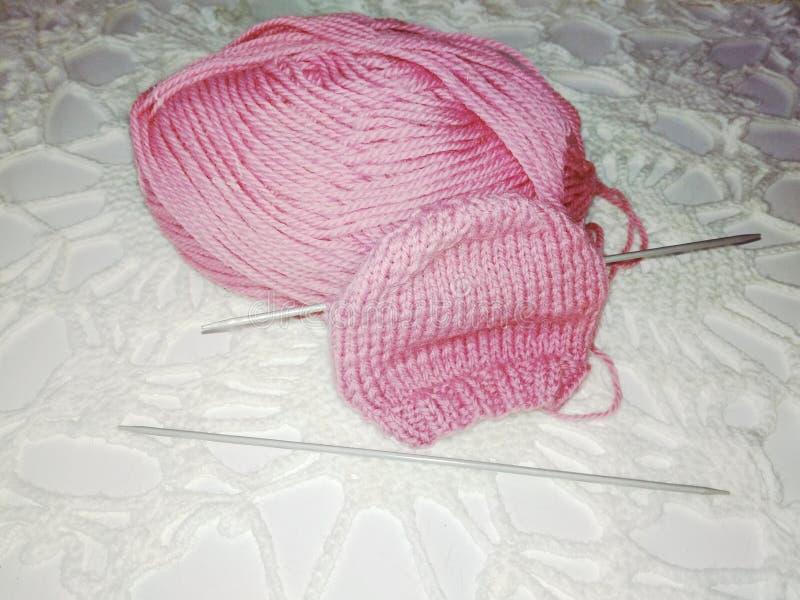 Вязать шляпы для младенца стоковое фото