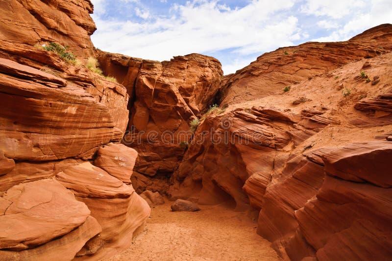 Вход каньона антилопы стоковое фото