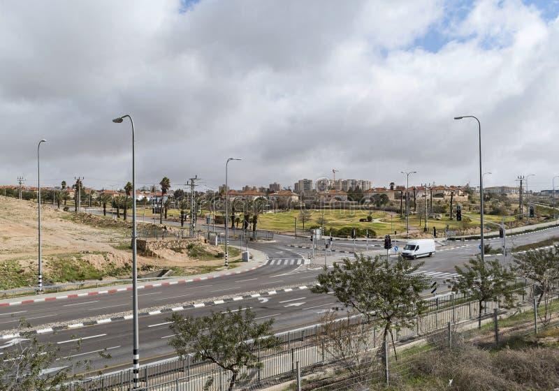 Вход к городу Arad в Израиле стоковое фото rf