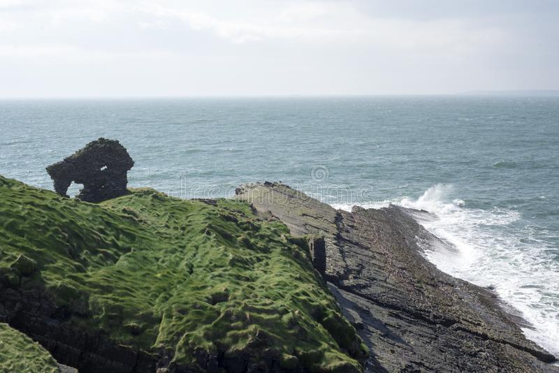 Вылижите замок в Керри Ирландии стоковая фотография
