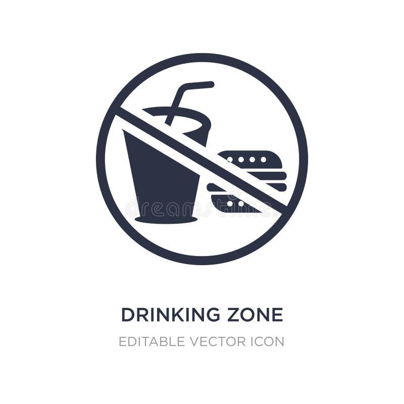 выпивая значок зоны на белой предпосылке Простая иллюстрация элемента от концепции еды иллюстрация штока