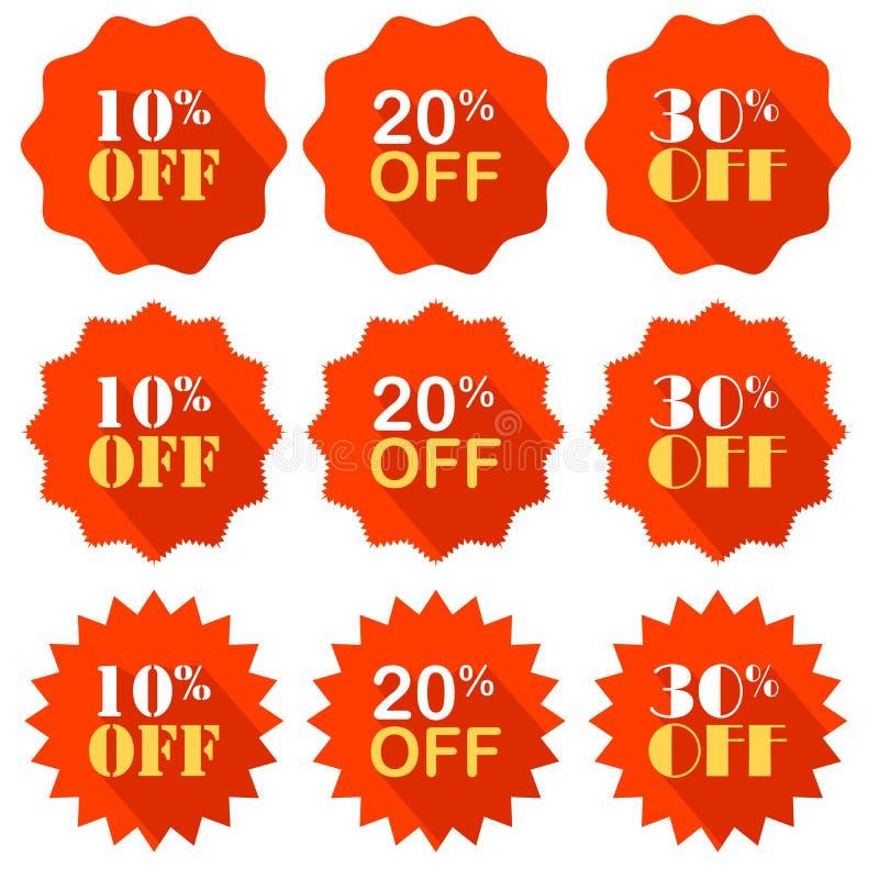 Выдвиженческое предложение скидка процента вектор эмблема рекламировать бесплатная иллюстрация