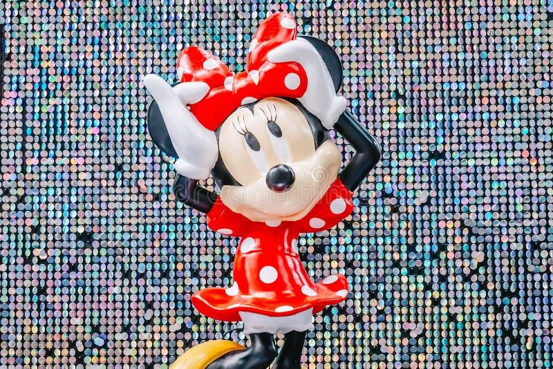 Выставка мыши Mickey в связи моментов Дисней волшебных празднует рождество на большей улице на дороге сада стоковые изображения
