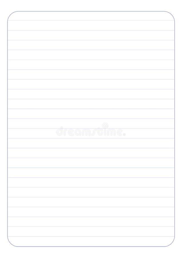 Выровнянная иллюстрация EPS10 вектора листа бумаги с любовью бесплатная иллюстрация