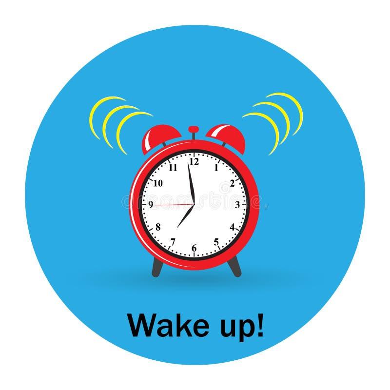 Время красного будильника будильника бесплатная иллюстрация