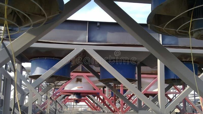 Воздушные охладители бензина стоковая фотография