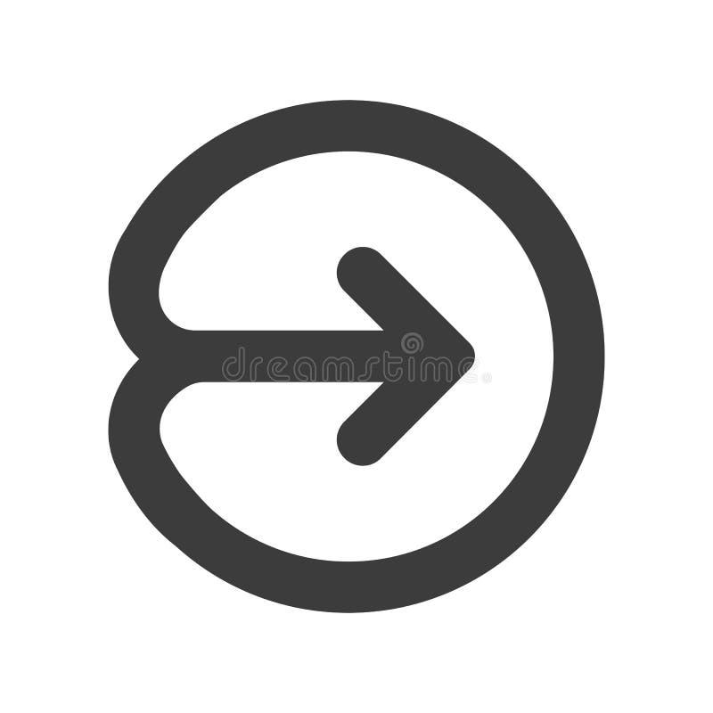 Войдите в или значок имени пользователя Стрелка представляет, делит иллюстрация штока