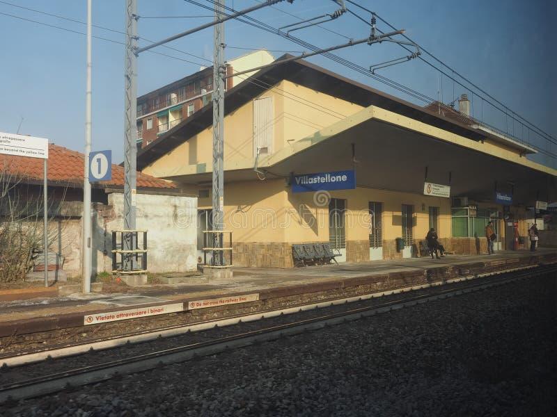 Вокзал Villastellone стоковые изображения rf