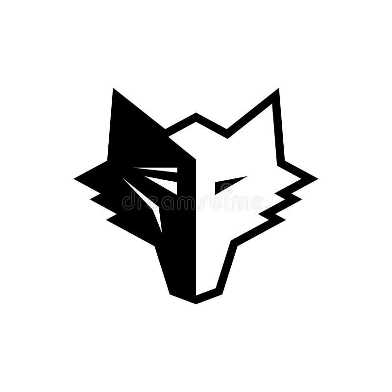 Волк как дизайн логотипа бесплатная иллюстрация