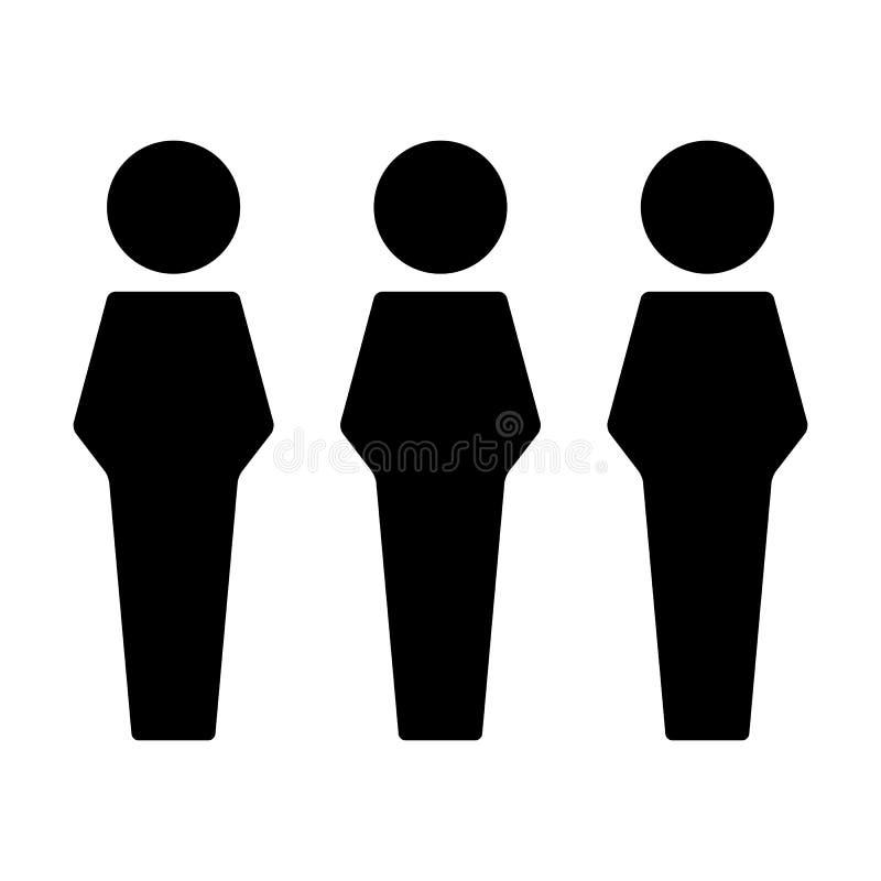 Воплощение символа группы людей социального вектора значка сети мужское для людей руководства бизнесом в плоском глифе цвета бесплатная иллюстрация