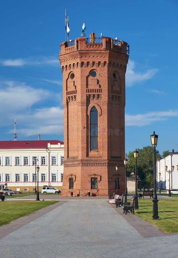 Водонапорная башня tobolsk kremlin Tobolsk Tyumen областная Россия стоковое изображение rf