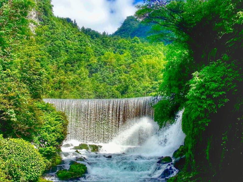 Водопад, живописная местность 7 небольшая сводов, xiaoqikong стоковая фотография rf