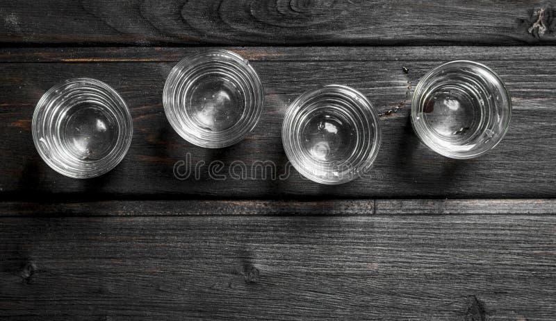 Водочка в стекле съемки стоковое фото rf