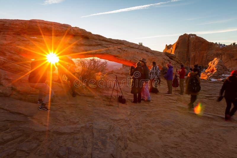 восход солнца мезы свода стоковое изображение