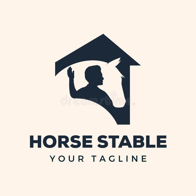 Воодушевленность дизайна логотипа лошади стабилизированная иллюстрация вектора
