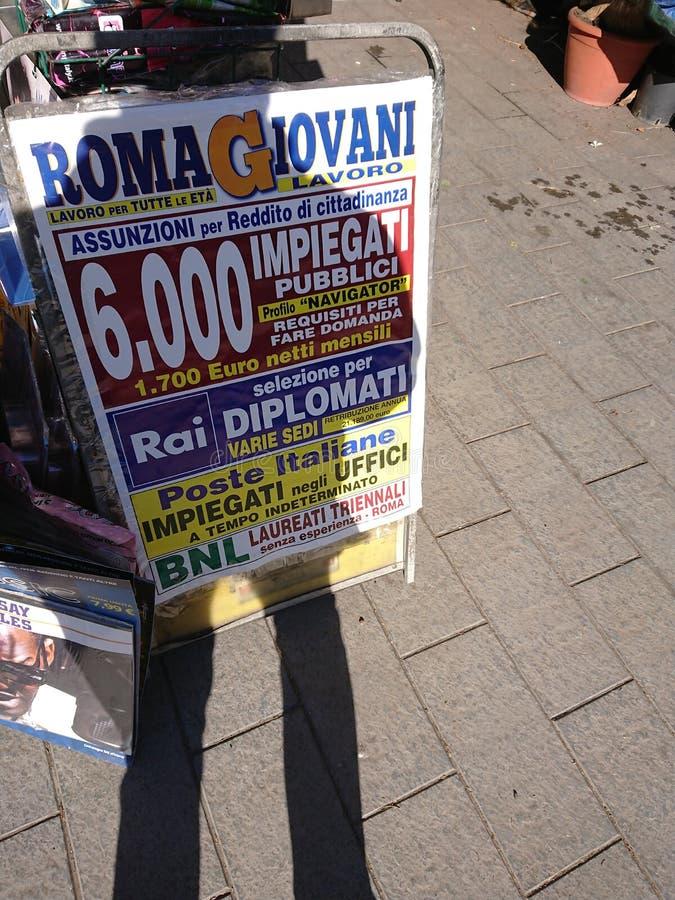 Газета рекламы работы стоковые изображения rf