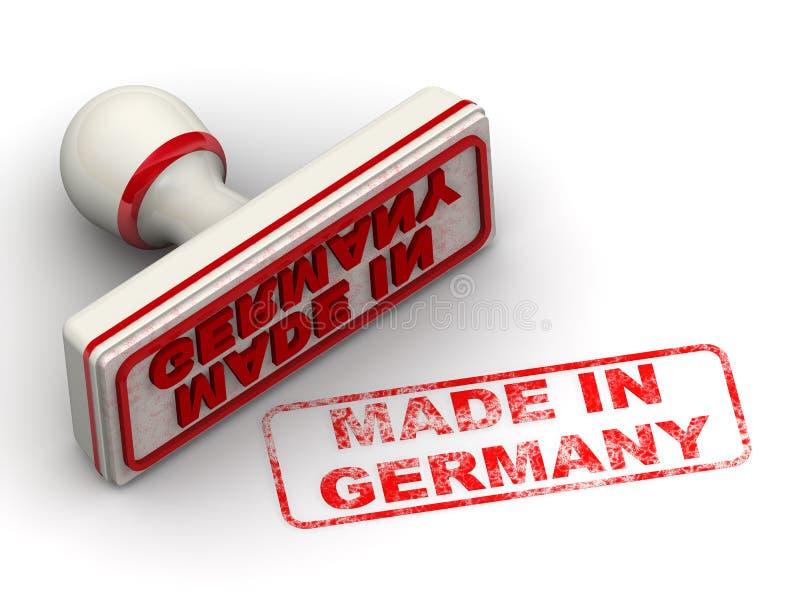 Германия сделала Уплотнение и отпечаток иллюстрация штока