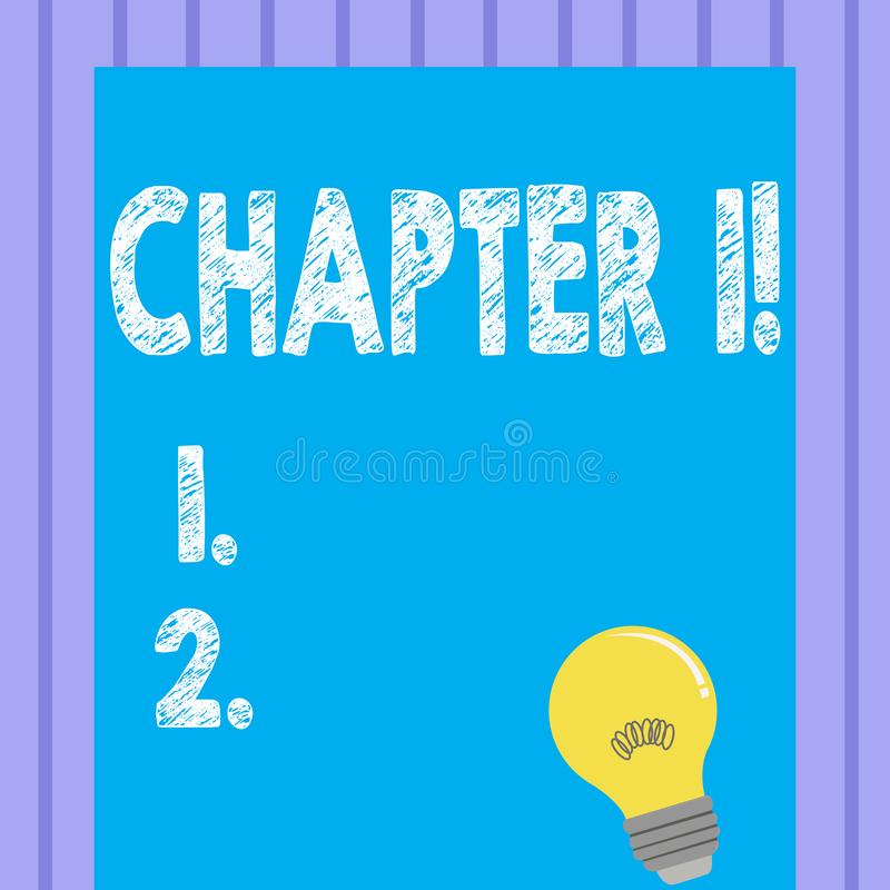 Глава 1 текста сочинительства слова Концепция дела для начала что-то нового или делать большие изменения в одних путешествие иллюстрация штока