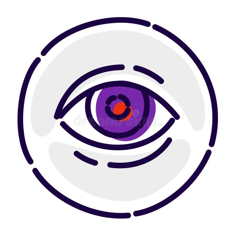 Глаз, исключительный логотип, эмблема Значок вектора плоский Изображение изолировано на белой предпосылке вектор шаблона корпорат бесплатная иллюстрация