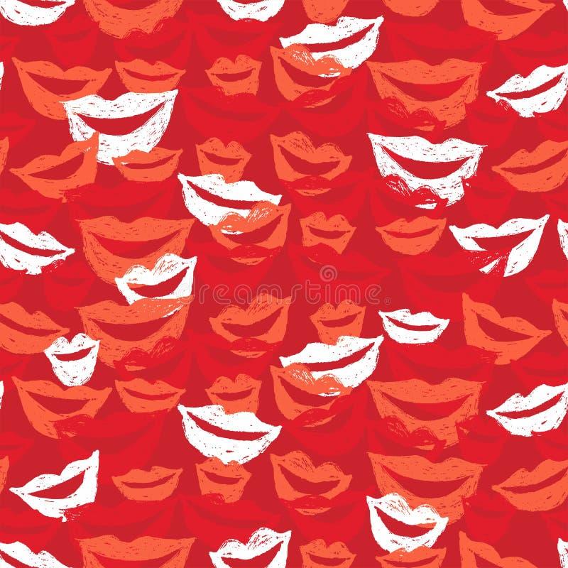 губы предпосылки безшовные иллюстрация штока