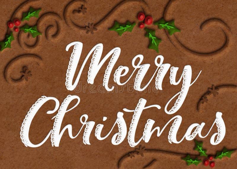 График веселого рождества искусства печенья стоковое изображение