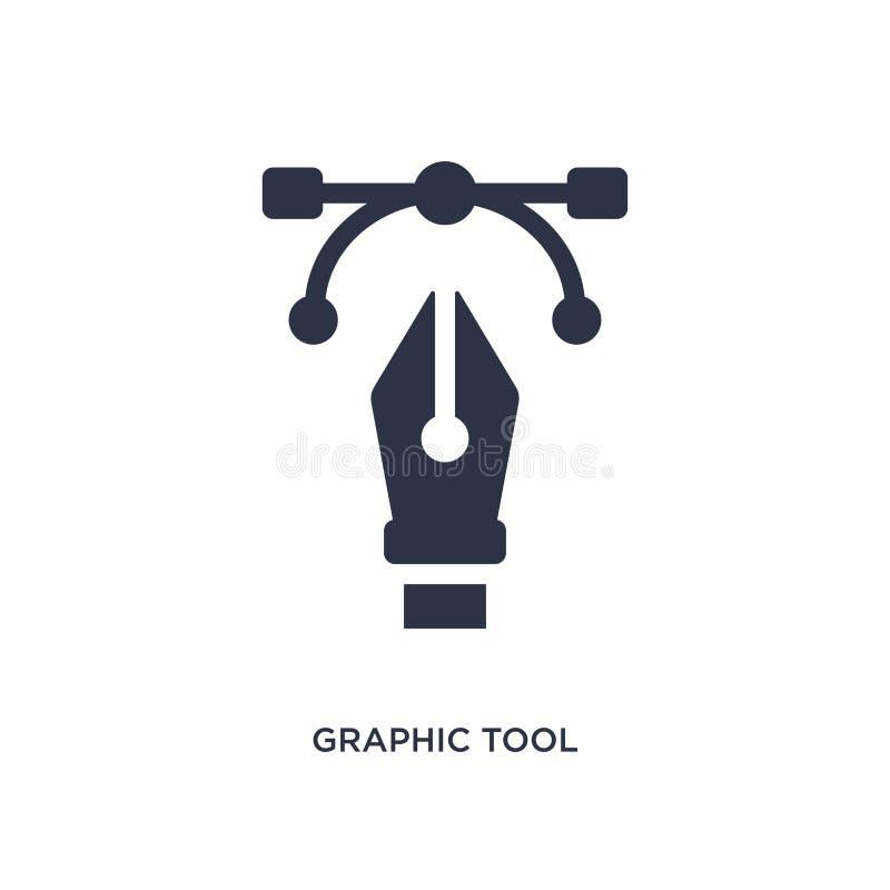 графический значок инструмента на белой предпосылке Простая иллюстрация элемента от творческой концепции pocess иллюстрация штока