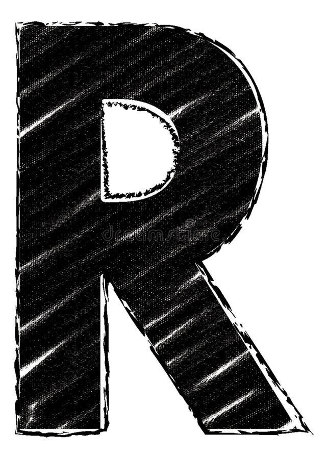 Графическое письмо со стилем brushstroke письмо r бесплатная иллюстрация