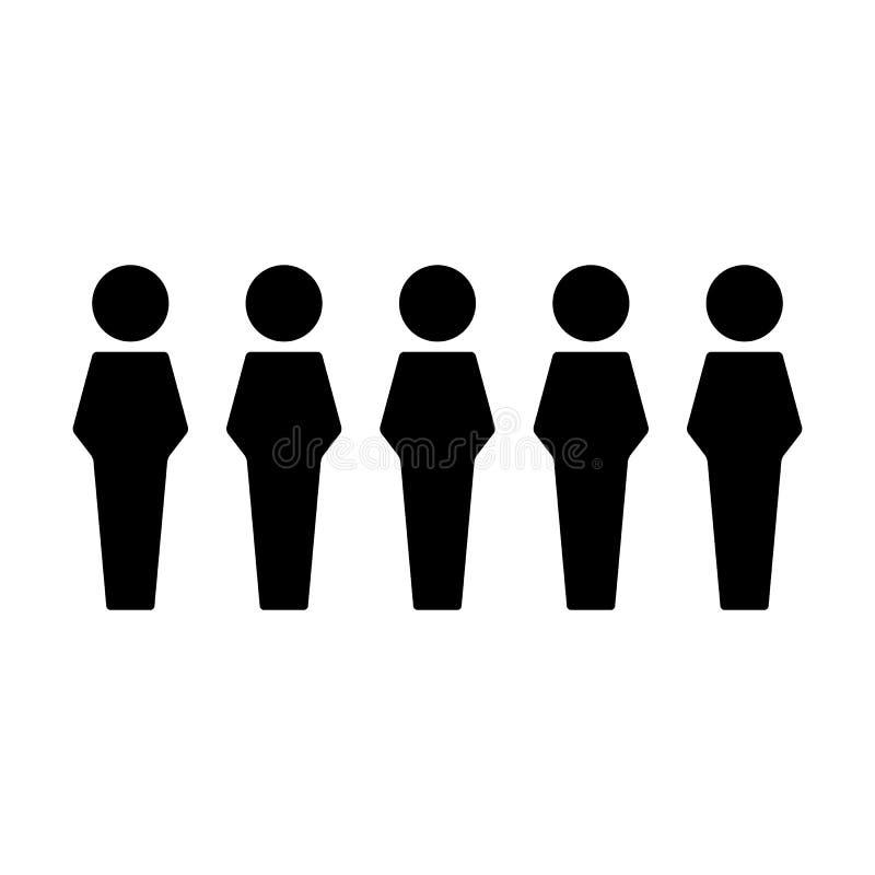 Группа в составе вектора значка людей мужская воплощение символа людей для руководящей группы руководства бизнесом в плоской пикт иллюстрация вектора