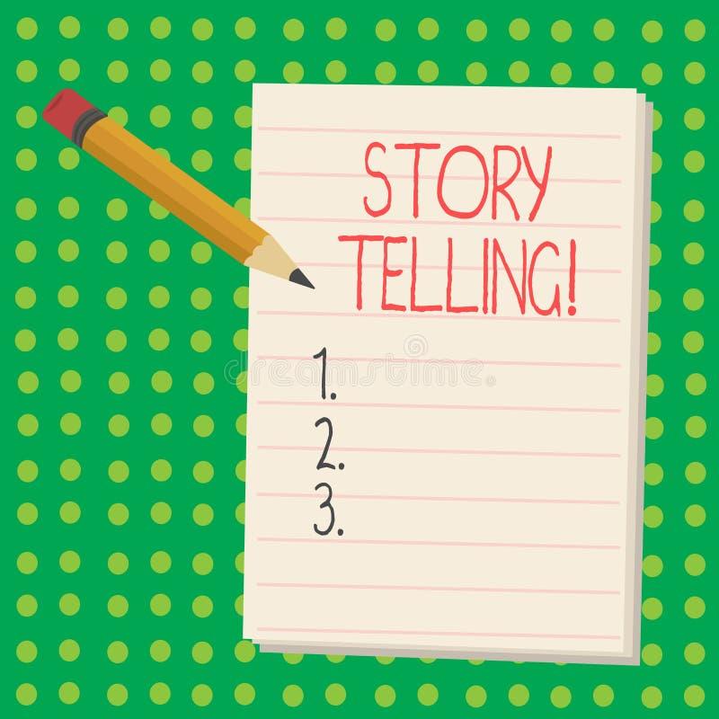 Говорить рассказа текста сочинительства слова Концепция дела для говорит или пишет рассказы делит личные опыты иллюстрация вектора