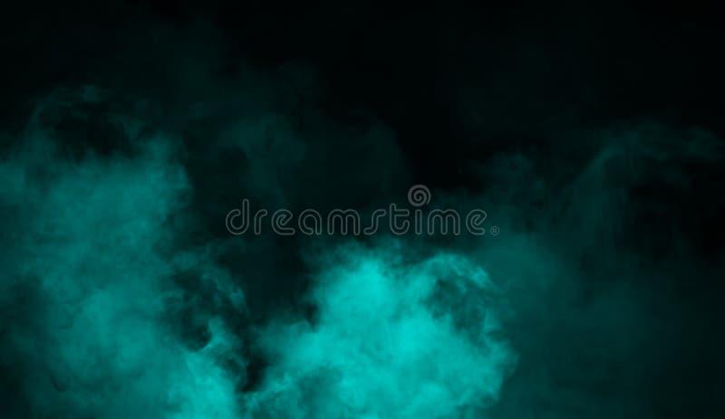 Голубая туманная предпосылка дыма тумана Абстрактные верхние слои текстуры для copyspace стоковые изображения rf
