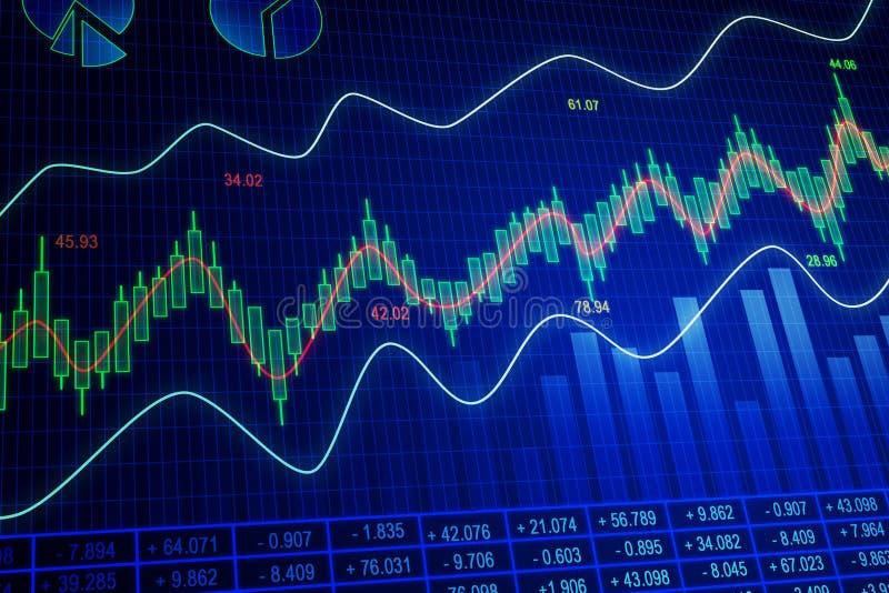 Голубой фон диаграммы валют иллюстрация вектора