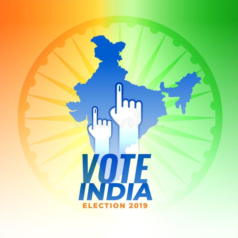 Голосование для предпосылки избрания Индии иллюстрация штока